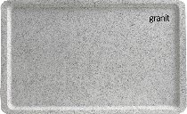 Tablett 53x37 cm EN, GP 3980 granit