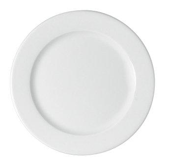Teller flach Fahne 1030/28 cm weiß, Maitre