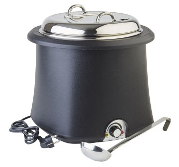Elektrischer Suppentopf schwarz