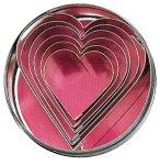 Ausstechformen Herz 6 teilig