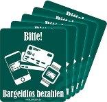 Aufkleber BARGELDLOS ZAHLEN 5er-Pack