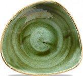 Triangle Bowl 60cl 23,5cm Sampihre Green, Stonecast