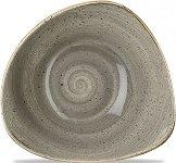 Triangle Bowl 60cl 23,5cm Peppercorn Grey, Stonecast