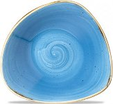 Triangle Bowl 60cl 23,5cm Cornflower Blue, Stonecast