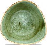 Triangle Bowl 37cl 18,5cm Sampihre Green, Stonecast