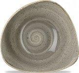 Triangle Bowl 37cl 18,5cm Peppercorn Grey, Stonecast