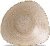 Triangle Bowl 37cl 18,5cm Nutmeg Cream, Stonecast