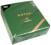 """Servietten 40 cm x 40 cm dunkelgrün """"ROYAL Collection"""" 1/4-Falz, 50 Stück"""